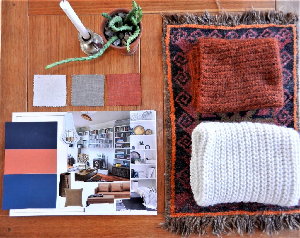 Moodboard for living space