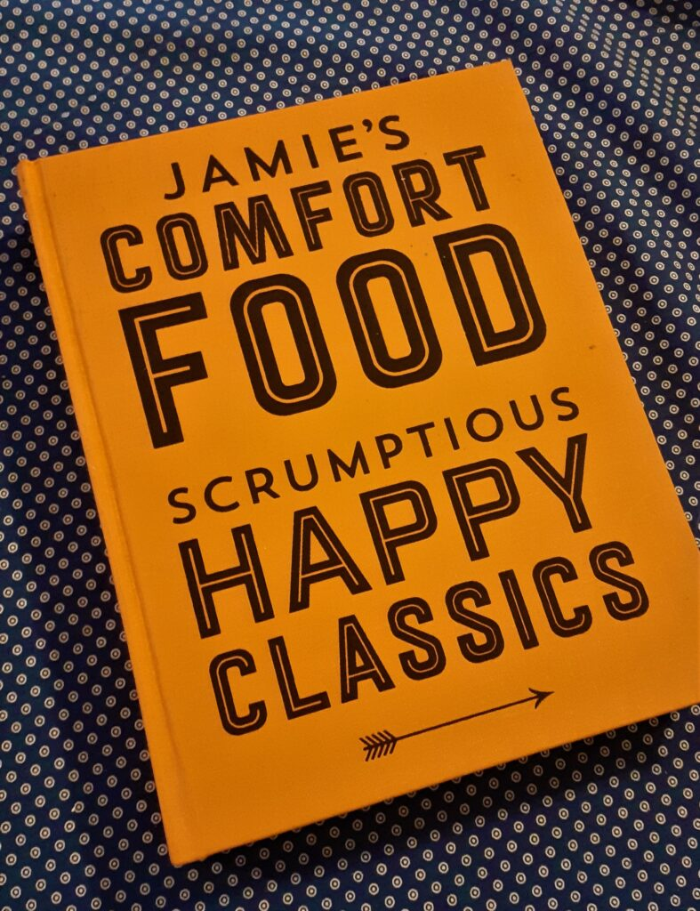recipe book by Jamie Oliver : Comfort Food, recipe for apple pie in Apples in Autumn blog.